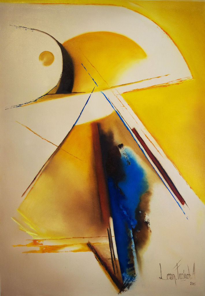 """Dancing with the Sun of Chopin. Oil on Canvas. 30"""" x 20"""""""