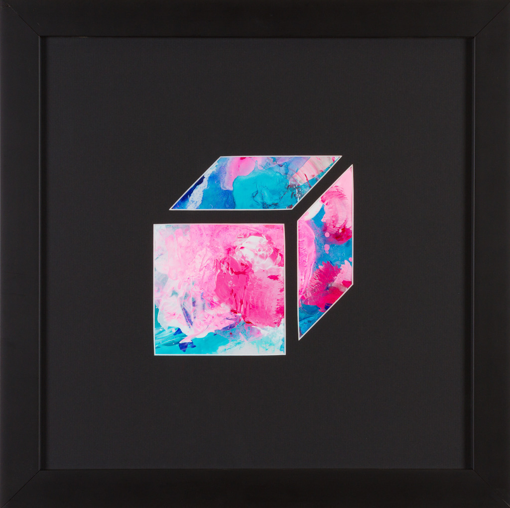 Carini Alchemy Cube #9. Acrylic on Palette Paper.