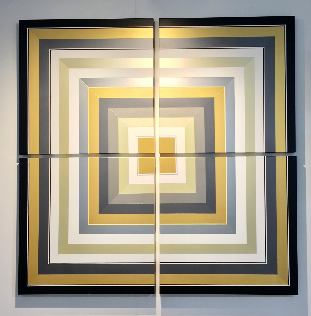 Golden. Acrylic on Canvas. 72 x 72 inches
