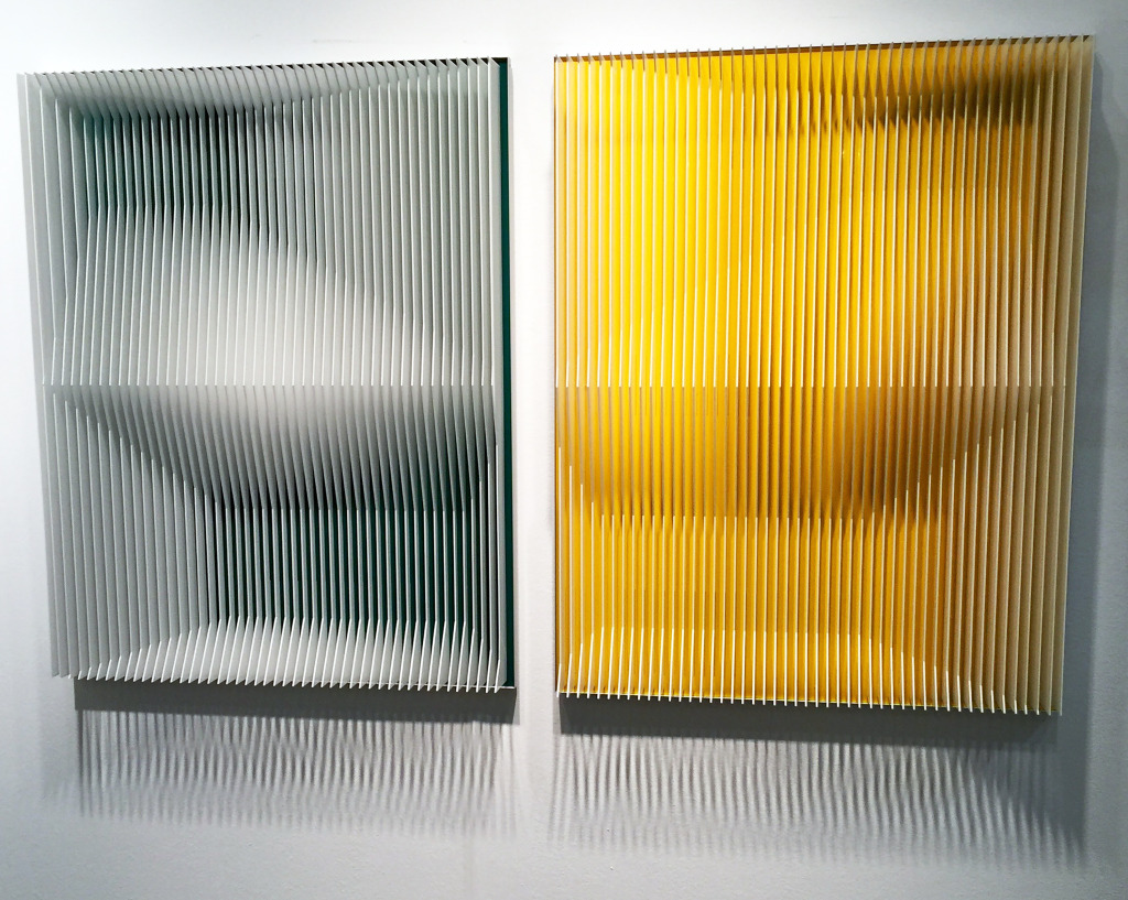 Tennis Court Green and Yellow. 2016. 32 x 44 x 3 Metacrilate and Aluminum