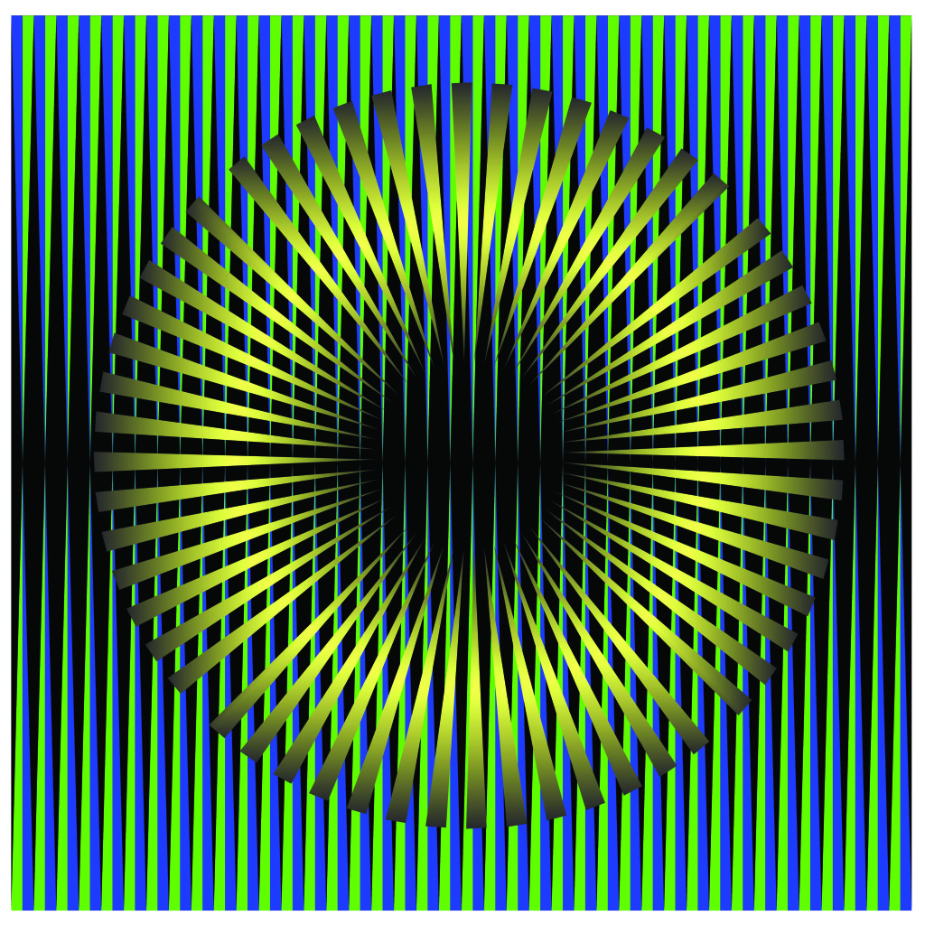 Gold Green Eye. Kinetism #10199. Mixed Media| Plexiglass. 24 x 24 inches