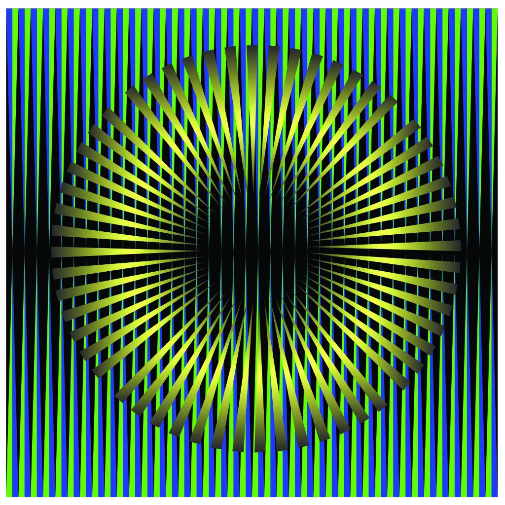 Gold Green Eye. Kinetism #10199. Mixed Media| Plexiglass. 24 x 24 inches